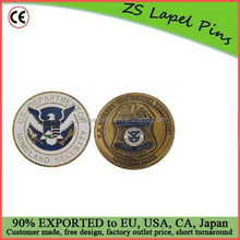 Personalized design and logo US Customs Border Control Challenge Coin