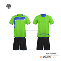 Latest design custom logo and number kids soccer uniform wholesale