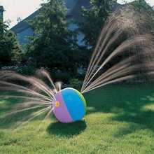 PVC inflatable outdoor spray water beach ball for kids, outdoor beach ball sprinkler in stock