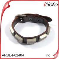 leather men bracelet leather bracelet with studs cheap artificial leather
