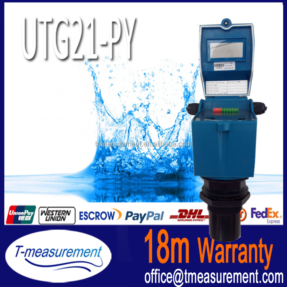 UTG21-PY RS485 ultrasonic diesel tank level indicator, water level gauge price acetic anhydride