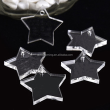Personalized Engraved Clear Love Star Acrylic Keychain
