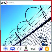 High Security Airport Fence 900mm Coil Diameter 4 Point Cross Razor Barbed Tape Wire