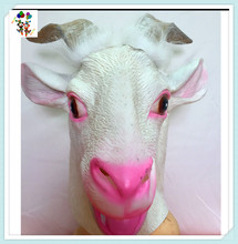 Halloween Party Costume Goat Head Latex Animal Masks HPC-3513