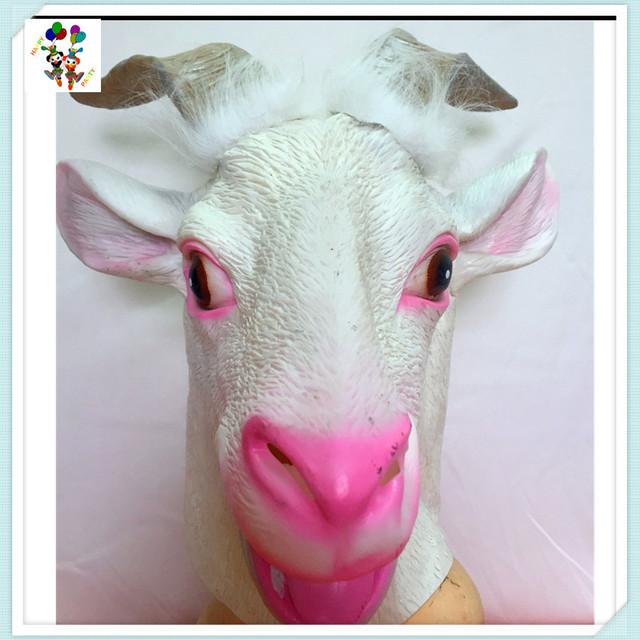 Halloween Party Costume Goat Head Latex Animal Masks HPC-3513