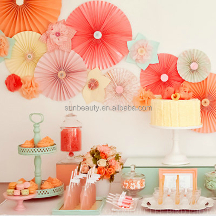 Paper Craft Decoration Item Hang Chinese Fan Wall