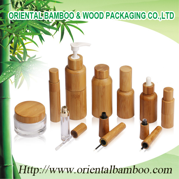 promotional round bamboo lipstick bottle