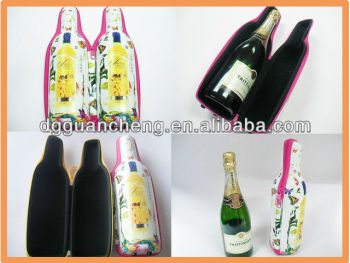 (GC-bottle-1)New year fabulous printing Carrying hard EVA eva wine case