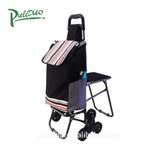 New Fashion Lightweight Stair-Climbing Folding Shopping Trolley Bag With Seat