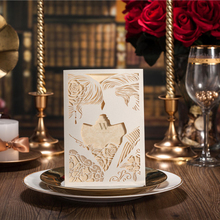 laser cut wedding invite words invitation cards paper envelope hollow wholesale