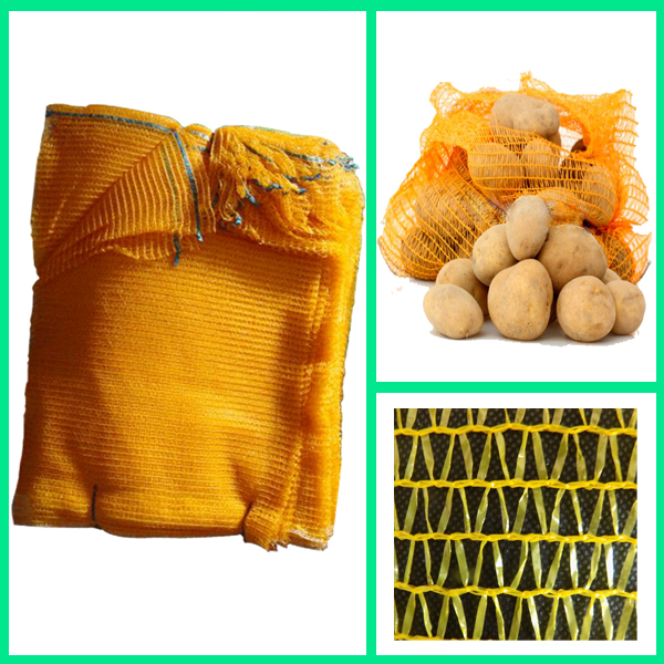 knitted plastic mesh bag for potatoes