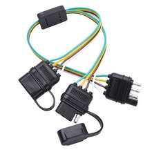 Trailer Splitter 2-way 4 pin Y-split Wiring Harness Adapter for LED Tailgate Light Bar
