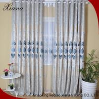 cheap and high quality popular flower embroidered organza curtain