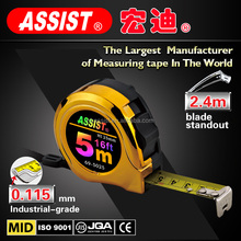 high performance spring and uv chrome ABS case 0.115mm blade thick measuring tape brand Assist china supplier