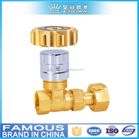 PN 16 magnetic locking brass gate valve for water meter usage