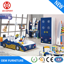 Colorful wooden MDF kids race car bed