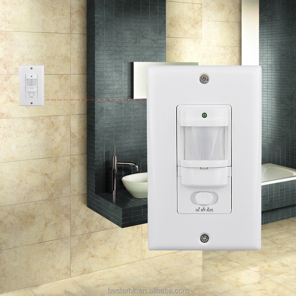 Timer and lux adjustable wall mounted motion sensors,led light switch BS033C