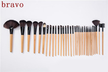 Pro High quality synthetic kabuki economic high end cosmetic mermaids makeup brush brochas set 32 pcs