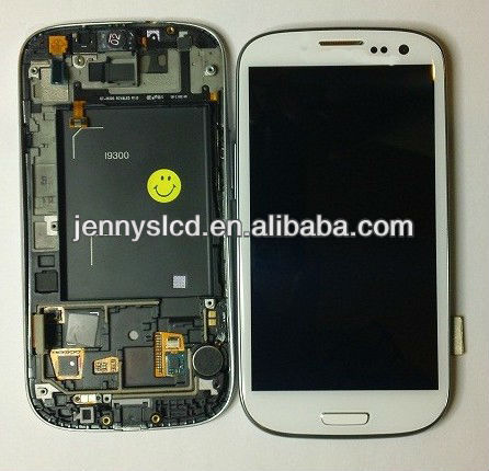 Very hot sale lcd for samsung galaxy S3 i9300 touch digitizer