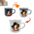 best selling products 350ml orange fda certificate iron cast enamel hot color changingcup coffee cup with black rim