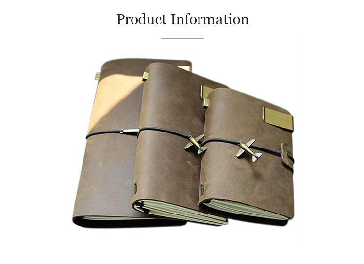 Hot sale note book classic paper organizer planner promotion notebook leather travel journal