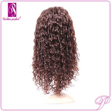 High Quality Silk Mono Top Kinky Curly Lace Front Short Synthetic Wig