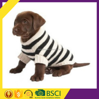 Onlin shop new style black and white stripe hight quality machine knit acrylic winter small dog sweater