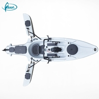 Newest folding canoe fishing jet plastic kayak with 40lbs motor