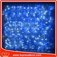 LED light fringe window curtain
