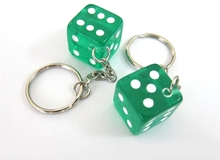 Wholesale hot high quality cheap metal stereo dice key chain/custom metal keychain/plastic keychain