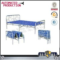 Wrought iron folding toddler bed with mattress
