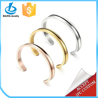 Stainless steel cuff design concave bangle for hair tie holder