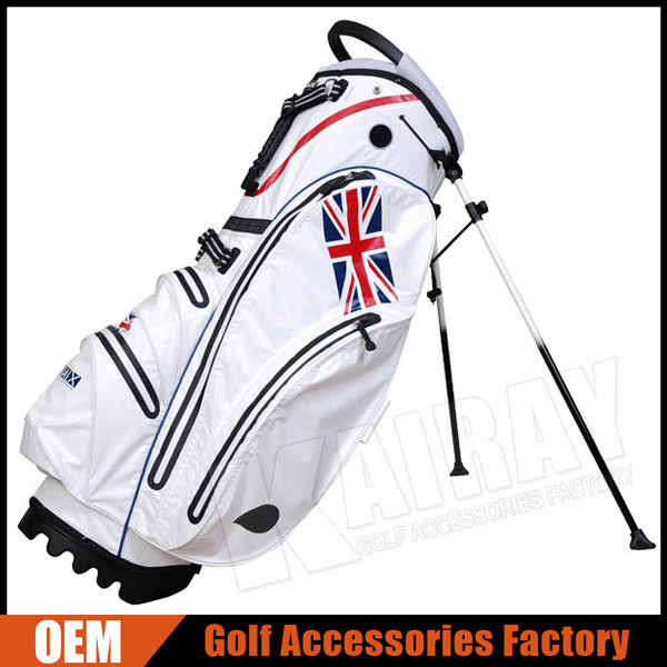 Custom Made 14 Way United Kingdom Flag 100% Waterproof Golf Stand Bag