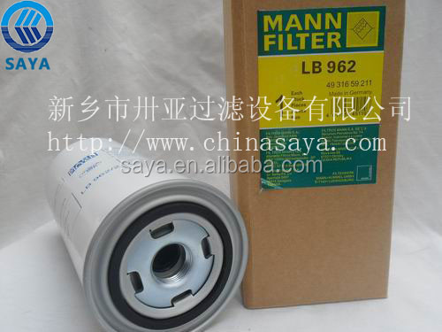 Air compressor engine oil separator element mann lb13145/20
