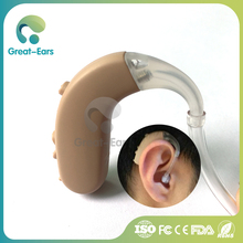 old people hearing aid earphone bte digital hearing amplifier for the elderly deaf aid with portable case