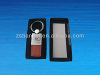 Silk Print Leather Key Fob