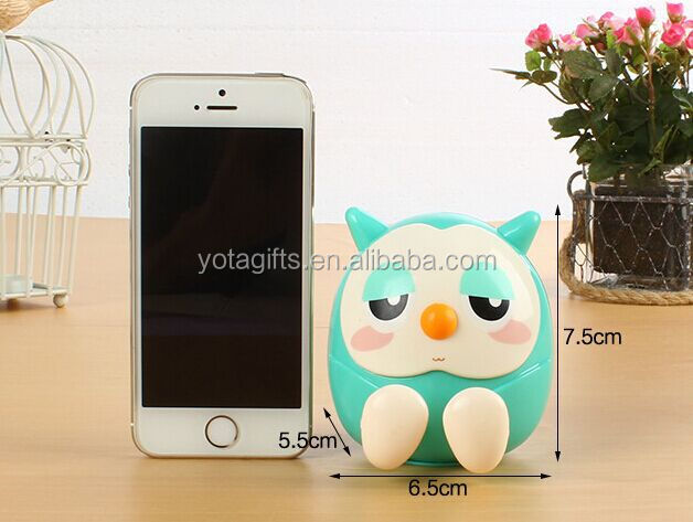 Funny Owl Design with Money Box Smart Cell Mobil phone table holder