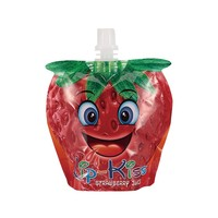 Customized food grade shape strawberry jelly spout pouch bag stand up bag