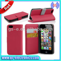 Fancy fans top quality wholesale wallet Name card holde case for iphone 5c really nice new brand
