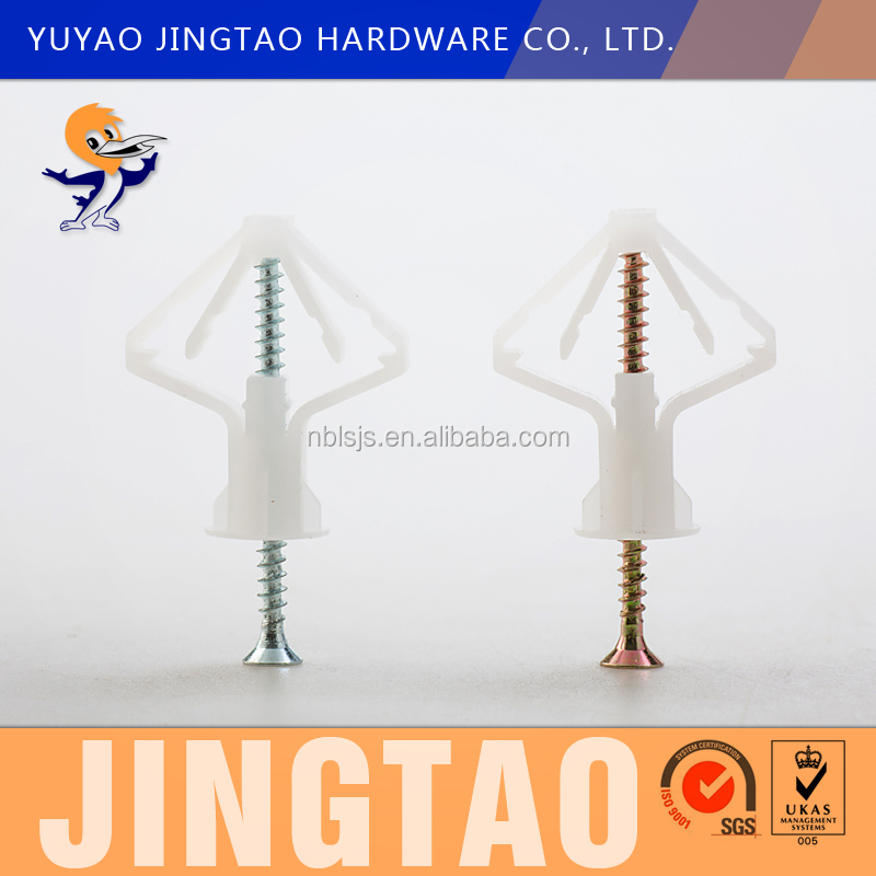 Nylon plastic Hollow Door Anchors Butterfly toggle anchors