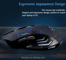 USB Change 6 Buttons 2000 DPI Optical Gaming Mouse