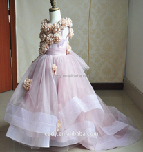 Girls Dress Children's Princess Dresses Three Quarter Wedding Kids Dress for Girl 2015 New Style baby clothes OEM from WuXi