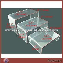 Clear Table Acrylic Shoe Bridge Stand for Retail