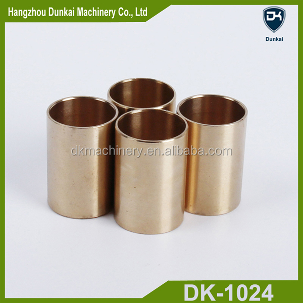 Customized CNC machining brass bearing sleeve/ copper bushings/ flanged brass bimetal bushing/