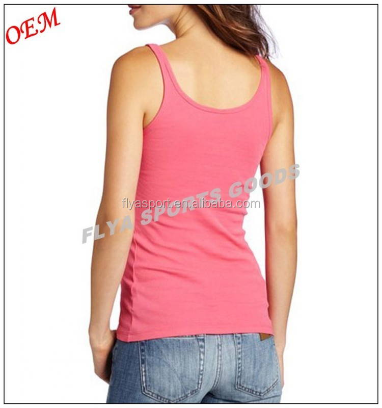 Good after-sales service 100% cotton sexy women singlet gym running wear for sport