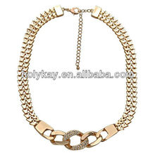 Wholesale 2013 new design fake gold chain necklace jewelry for men