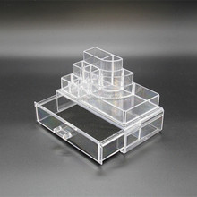 Plastic Cosmetic Storage Boxes Jewelry Organizer With Drawer