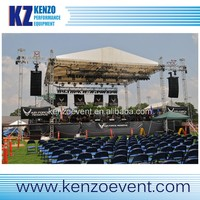 outdoor mobile concert stage roof truss system with sound wings