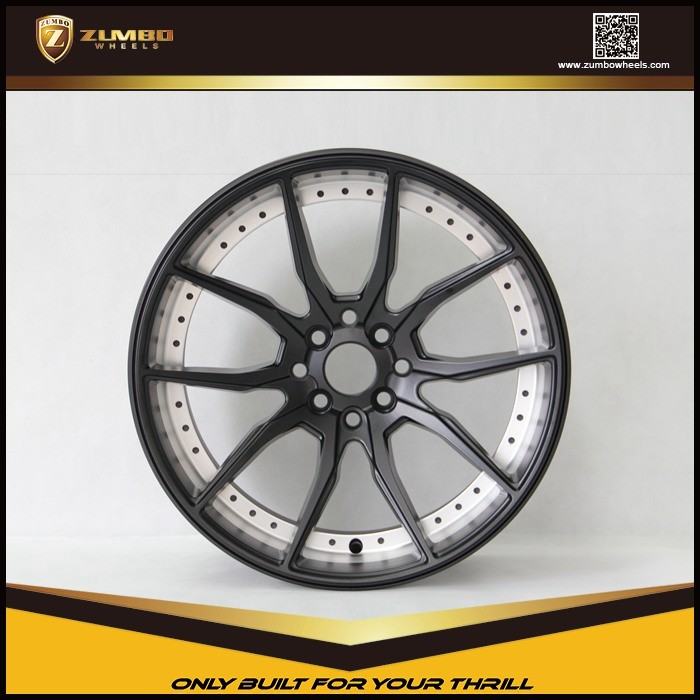 "ZUMBO S0051 17"" Black Alloy Wheel Rims"