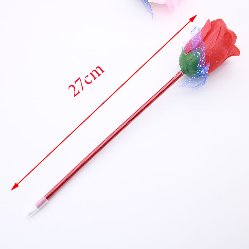 new Artificial Flower Rose Ball Point Pen, Valentine Gift Rose Ball Point Pen
